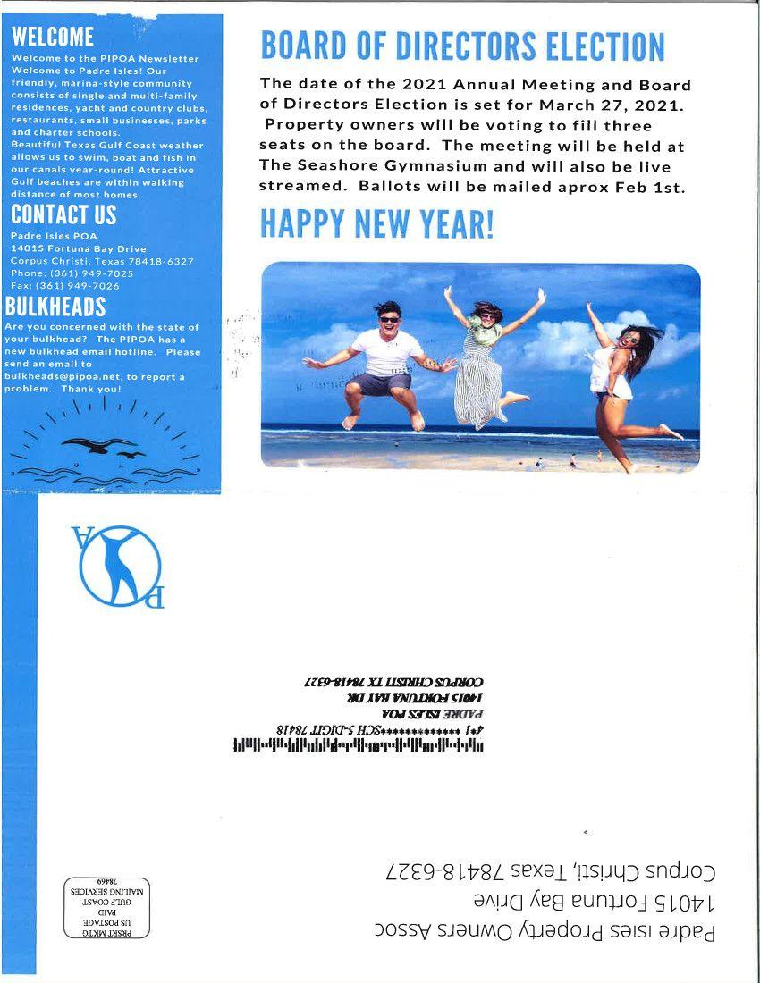 PIPOA 1st Quarter 2021 Newsletter